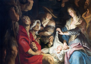Antwerp - Nativity scene by Peter Paul Rubens